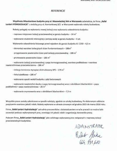 Leniart-REferencje-Mazowiecka-34A